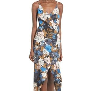 ASTR The Label Donna Wrap Dress Casual Floral Maxi